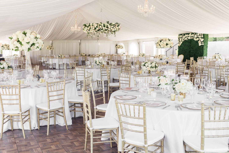 Elegant and classic luxury white and green wedding reception at Santaluz Club, Cavin Elizabeth Photography