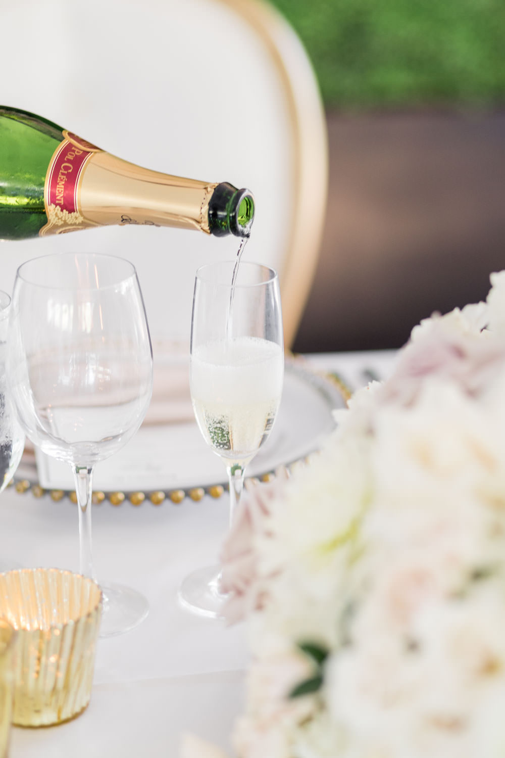 Champagne pouring into champagne glass, Cavin Elizabeth Photography