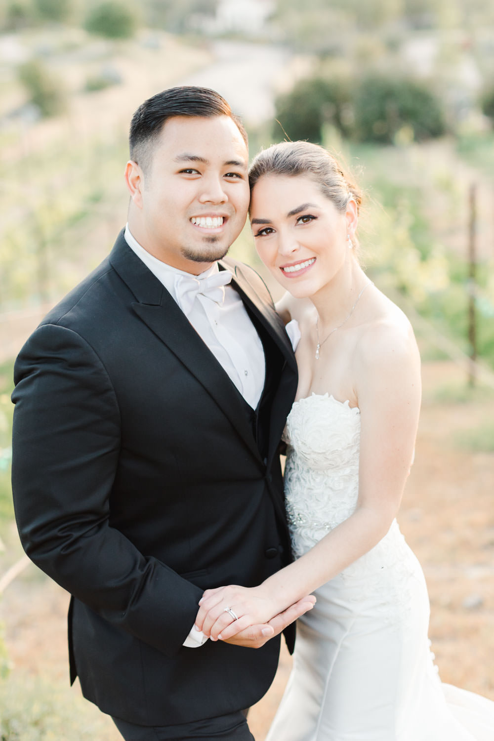 Bride and groom in the vineyards, Santalux Club wedding reception, Cavin Elizabeth Photography