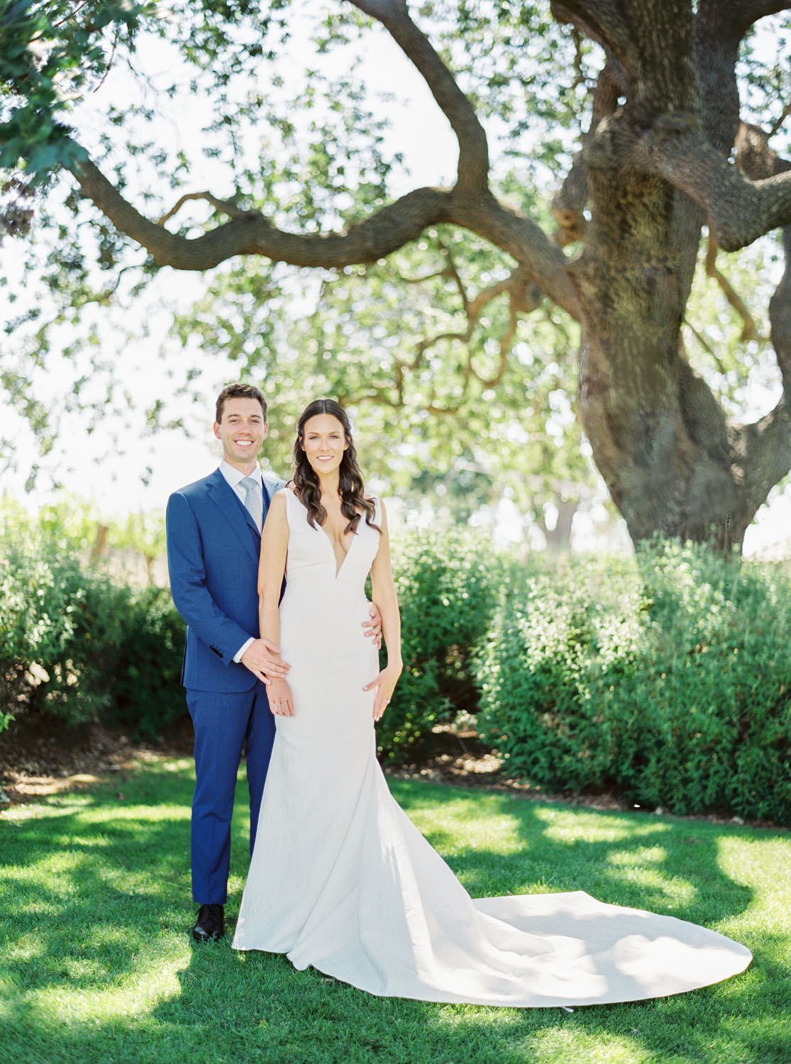 Bride and groom portrait captured on medium format film, Cavin Elizabeth Photography