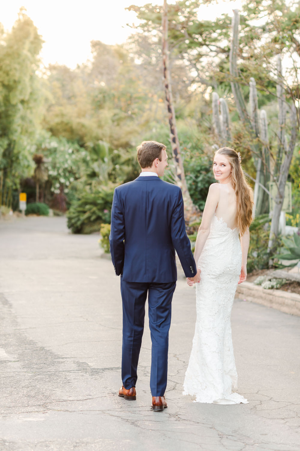 Bride and groom portrait at San Diego Botanical Garden, Cavin Elizabeth Photography