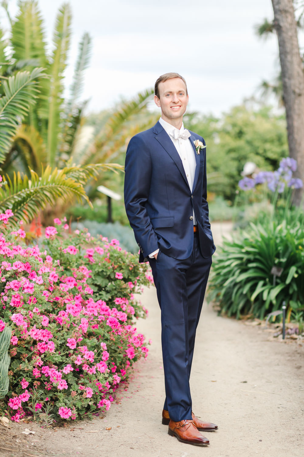 Groom portrait at San Diego Botanical Garden, Cavin Elizabeth Photography
