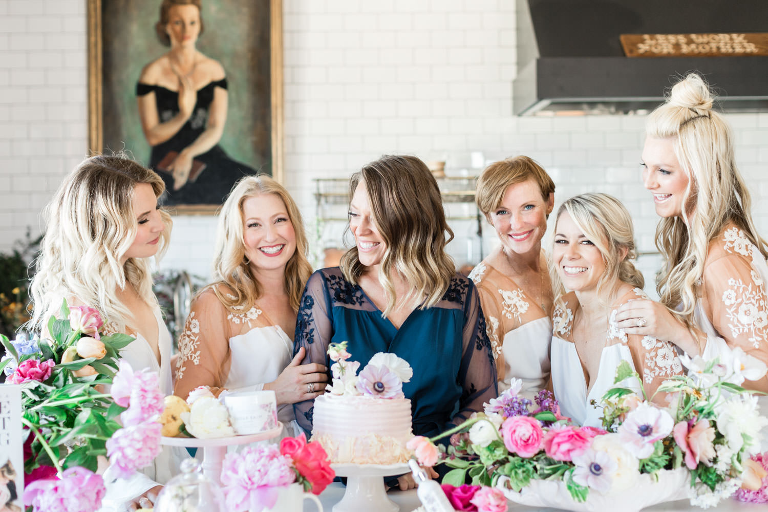 Bridesmaids in Robed with Love bride robe for bridal favorites gift ideas, Cavin Elizabeth Photography