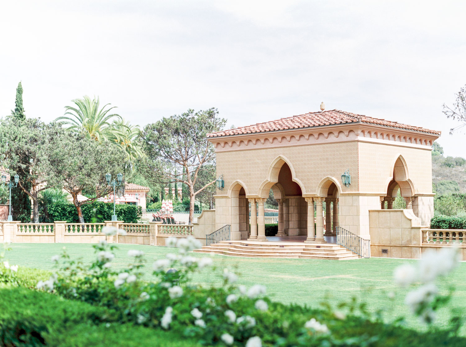 Pavilion at Aria Lawn, Weddings at the Fairmont Grand Del Mar in San Diego, Luxury Mediterranean European inspired venue, film by Cavin Elizabeth Photography