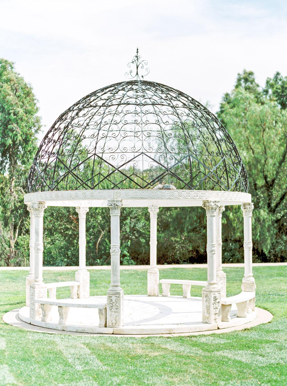 Reflection Lawn altar gazebo, Weddings at the Fairmont Grand Del Mar in San Diego, Luxury Mediterranean European inspired venue, film by Cavin Elizabeth Photography