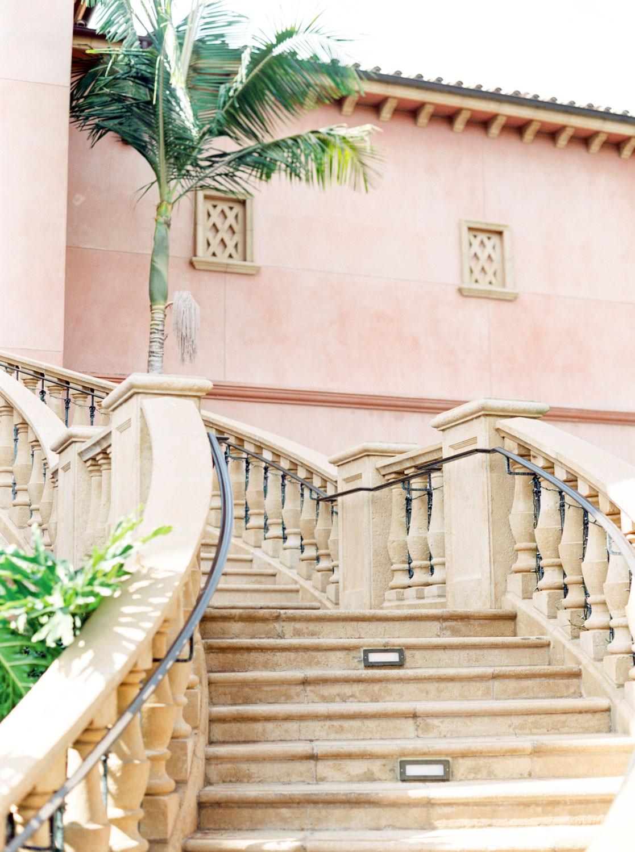 Staircase, Weddings at the Fairmont Grand Del Mar in San Diego, Luxury Mediterranean European inspired venue, film by Cavin Elizabeth Photography