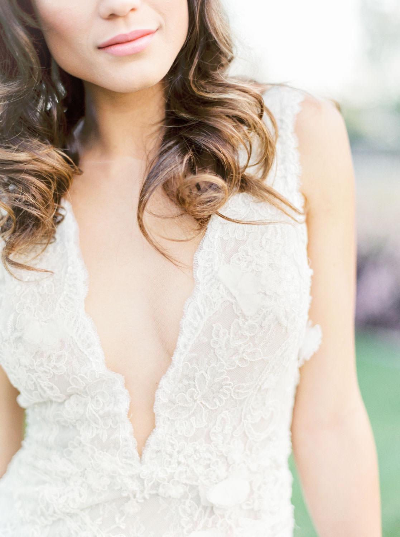 Bride in Marchesa Daffodil gown, Film by Cavin Elizabeth Photography