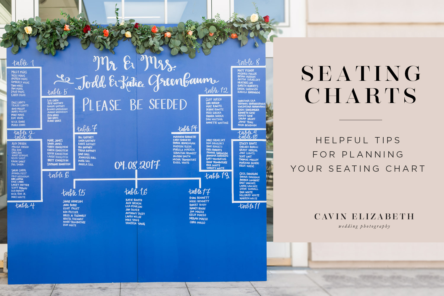 Helpful Tips for Planning Your Wedding Seating Chart