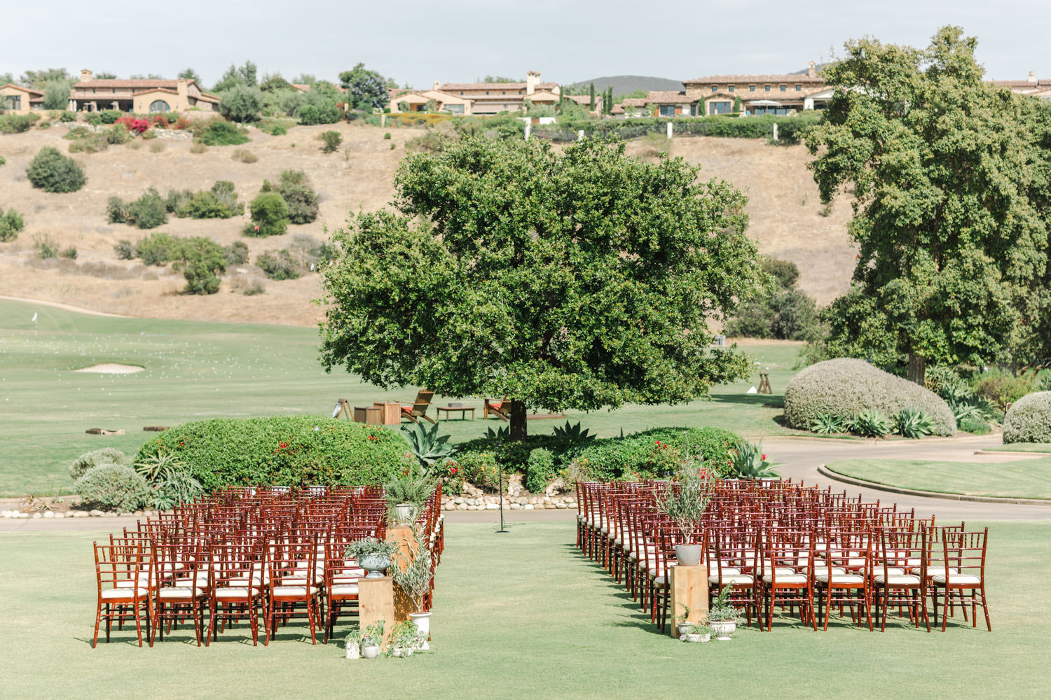 Santaluz Club Golf course wedding ceremony with a view, Cavin Elizabeth Photography