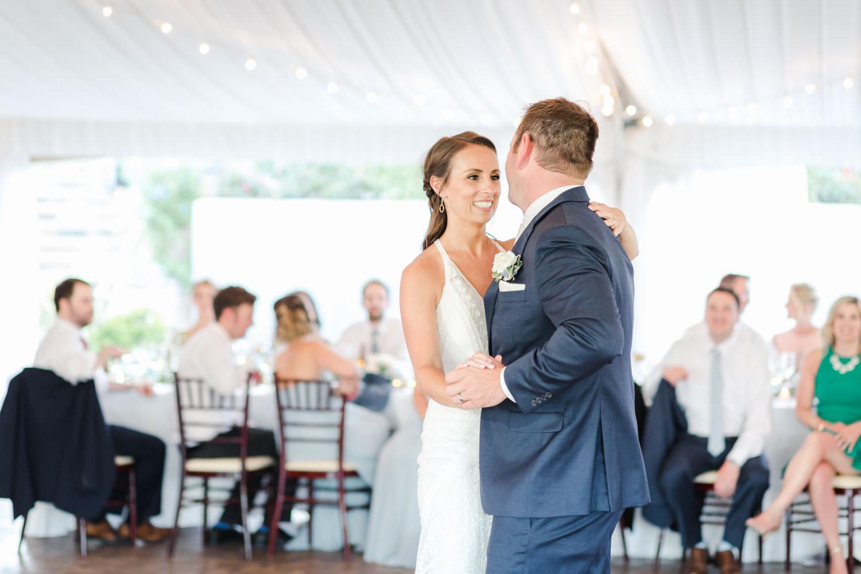 Bride and groom first dance at Santaluz Club, Cavin Elizabeth Photography