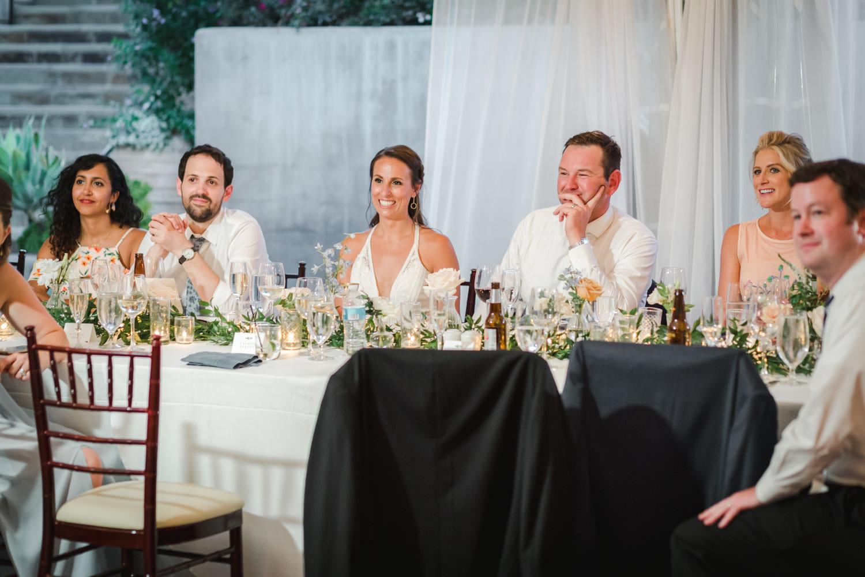 Bride and groom toasts at Santaluz Club, Cavin Elizabeth Photography