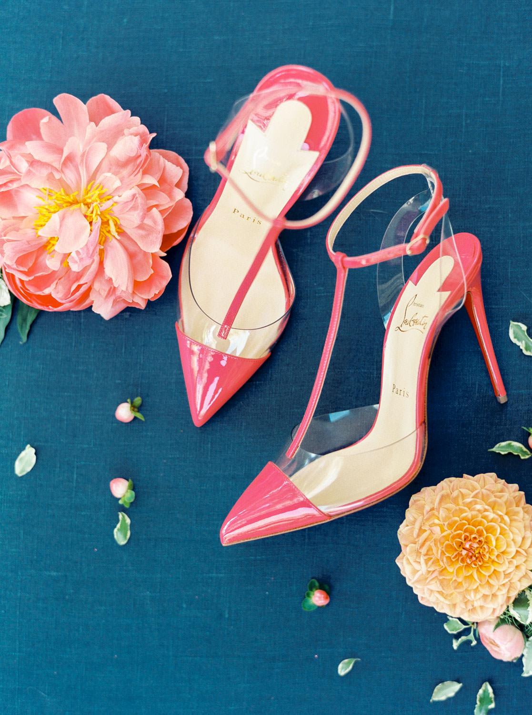 Pink Louboutin pumps shot on film, Cavin Elizabeth Photography