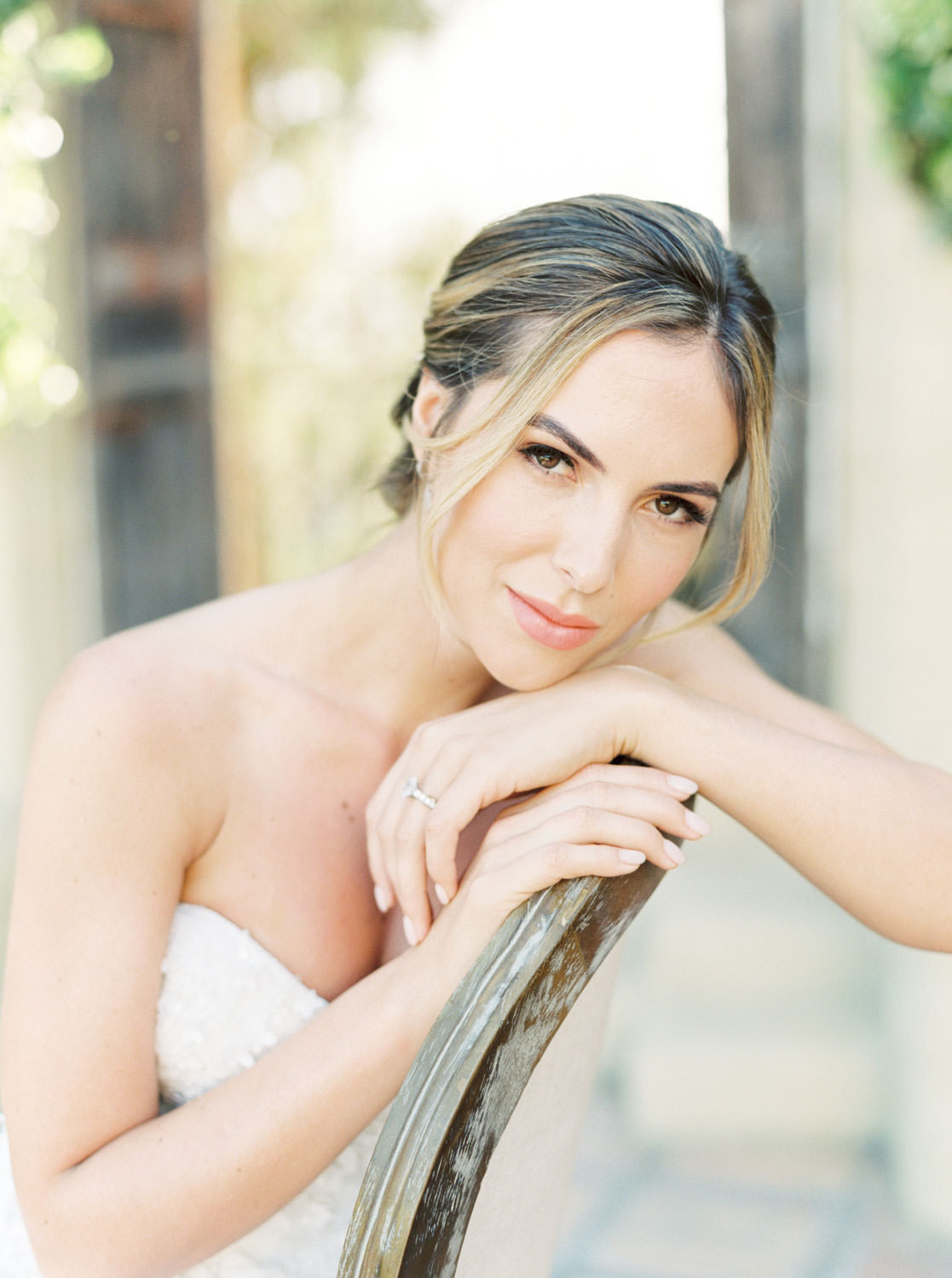 Bride with fresh makeup by Janet Villa at Whispering Rose Ranch, film by Cavin Elizabeth Photography