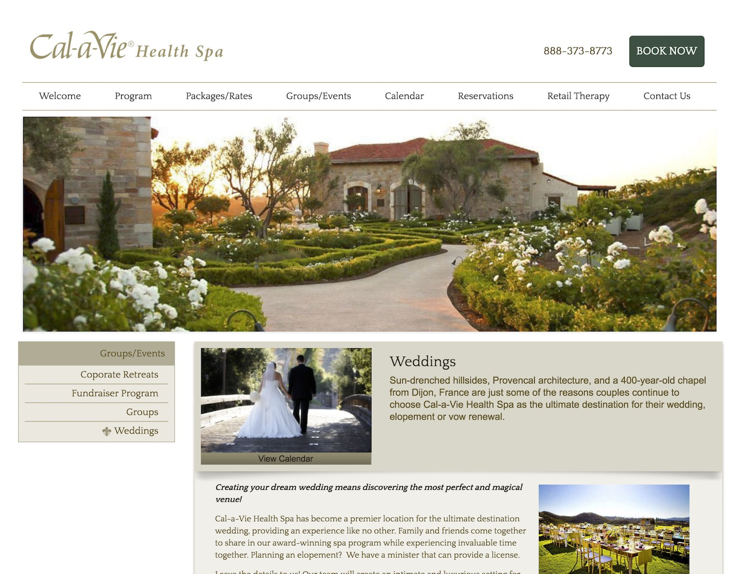 European Wedding Venues in San Diego: Cal a Vie Wedding Venue