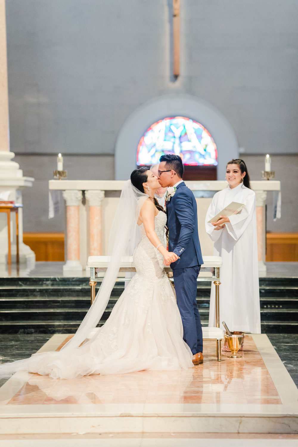 Immaculata USD wedding ceremony, Cavin Elizabeth Photography