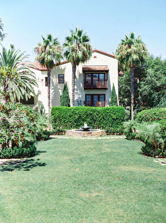 Garden Courtyard at Estancia La Jolla Wedding Venue - San Diego Film Photographer Cavin Elizabeth Photography
