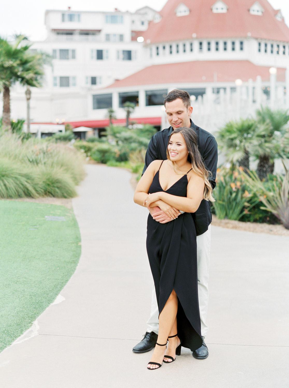 Film photo, Romantic Hotel Del Coronado Engagement, Cavin Elizabeth Photography