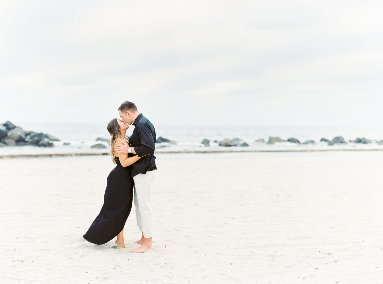 Film photo on the beach, Romantic Hotel Del Coronado Engagement, Cavin Elizabeth Photography