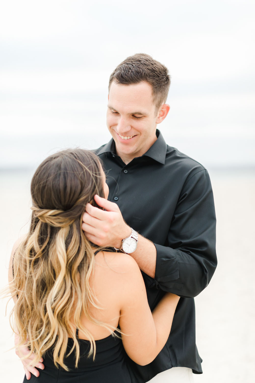 Engagement on the beach, Romantic Hotel Del Coronado Engagement, Cavin Elizabeth Photography