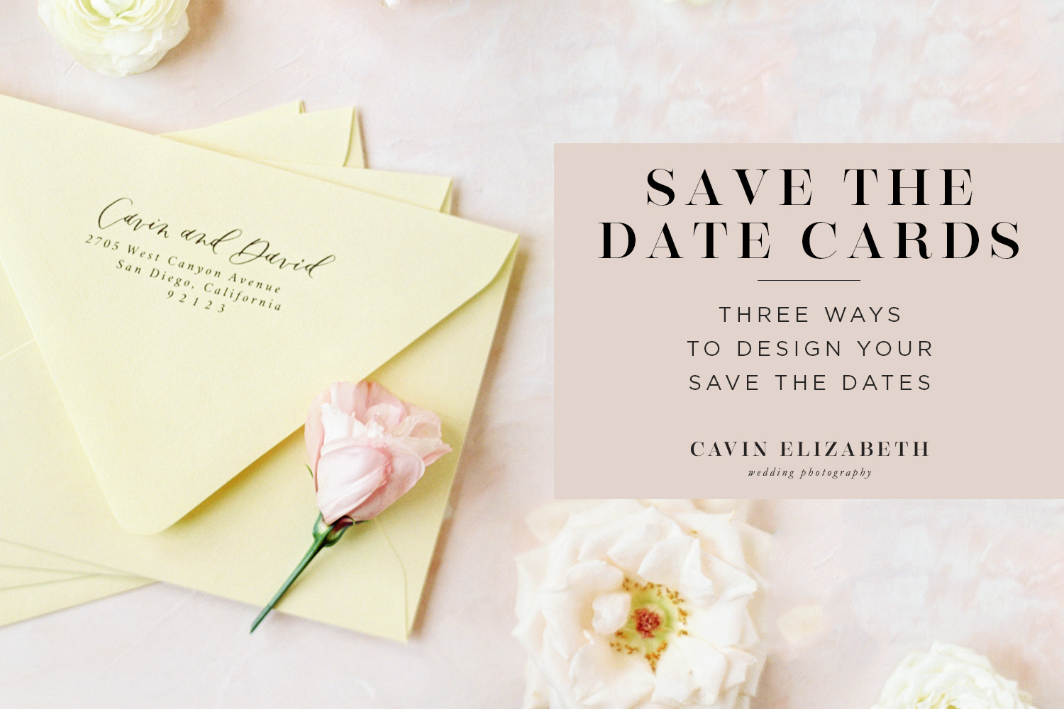 3 Save the Date Card Ideas | Engagement Photographer