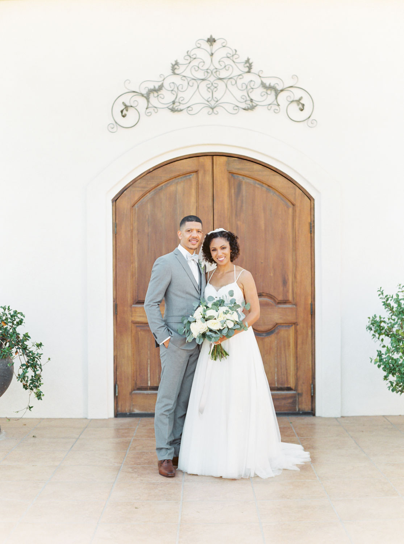 Bride and groom film portrait at Temecula Wedding at Villa De Amore, Cavin Elizabeth Photography