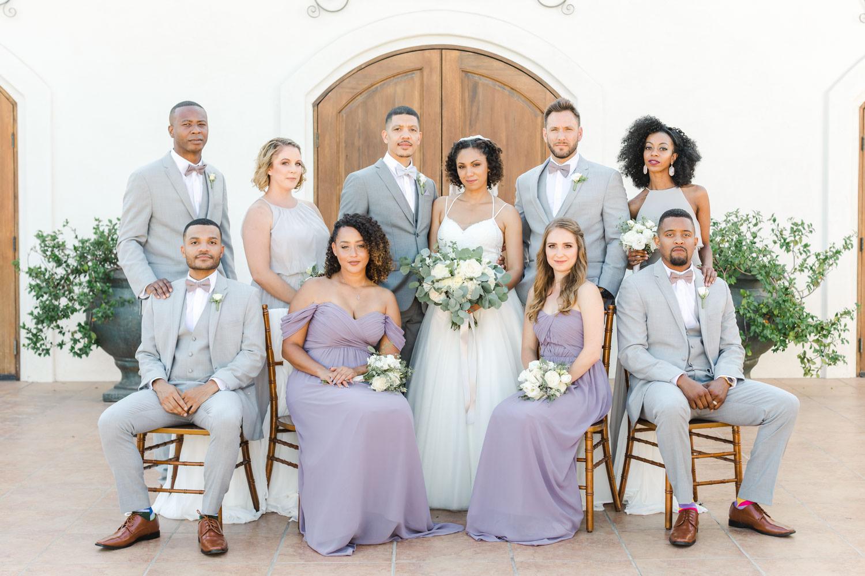 Bridal party sitting portrait at Temecula Wedding at Villa De Amore, Cavin Elizabeth Photography