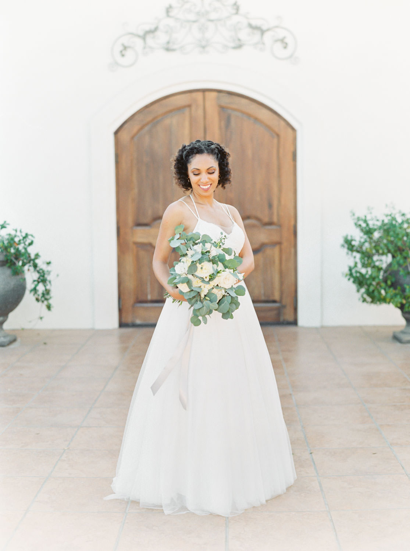 Bridal film portrait at Temecula Wedding at Villa De Amore, Cavin Elizabeth Photography