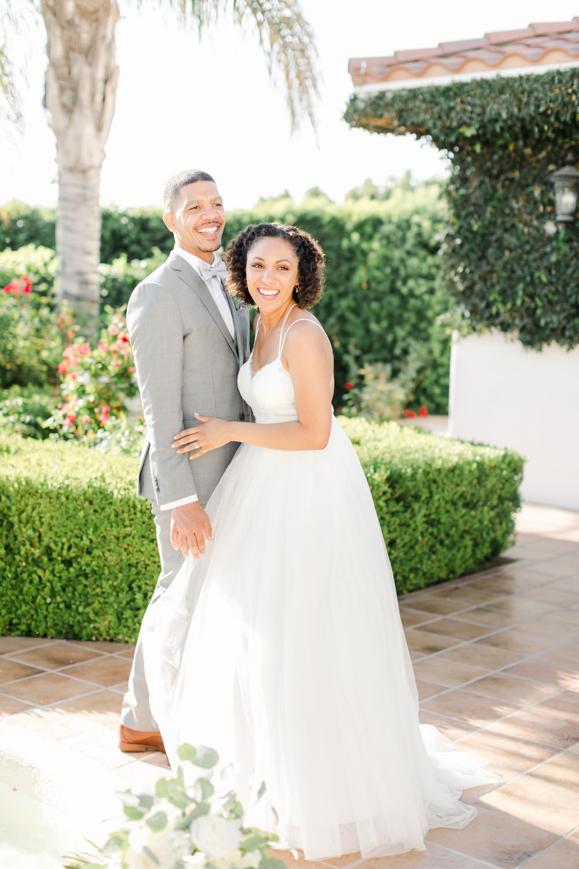 Bride and groom candid moment at Temecula Wedding at Villa De Amore, Cavin Elizabeth Photography