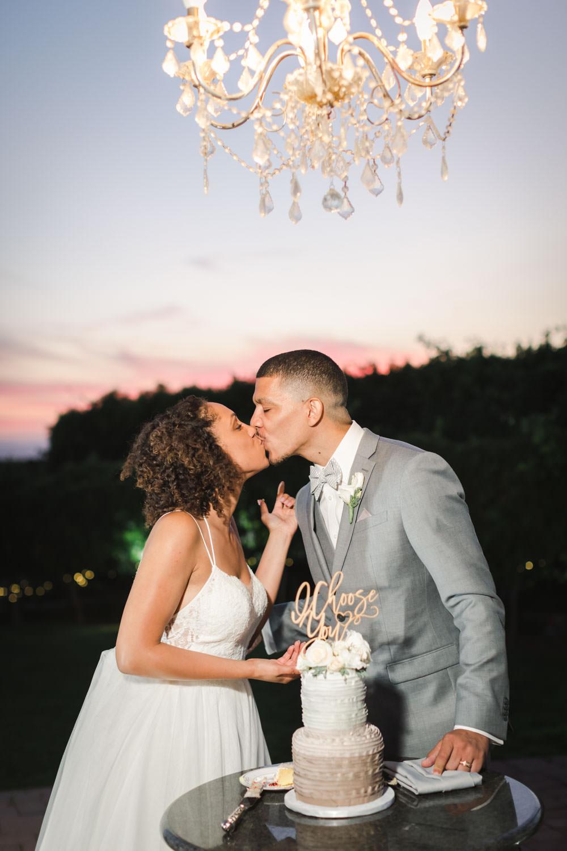 Cake cutting at Temecula Wedding at Villa De Amore, Cavin Elizabeth Photography