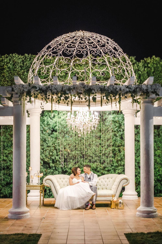 Twinkle light night portraits at Temecula Wedding at Villa De Amore, Cavin Elizabeth Photography