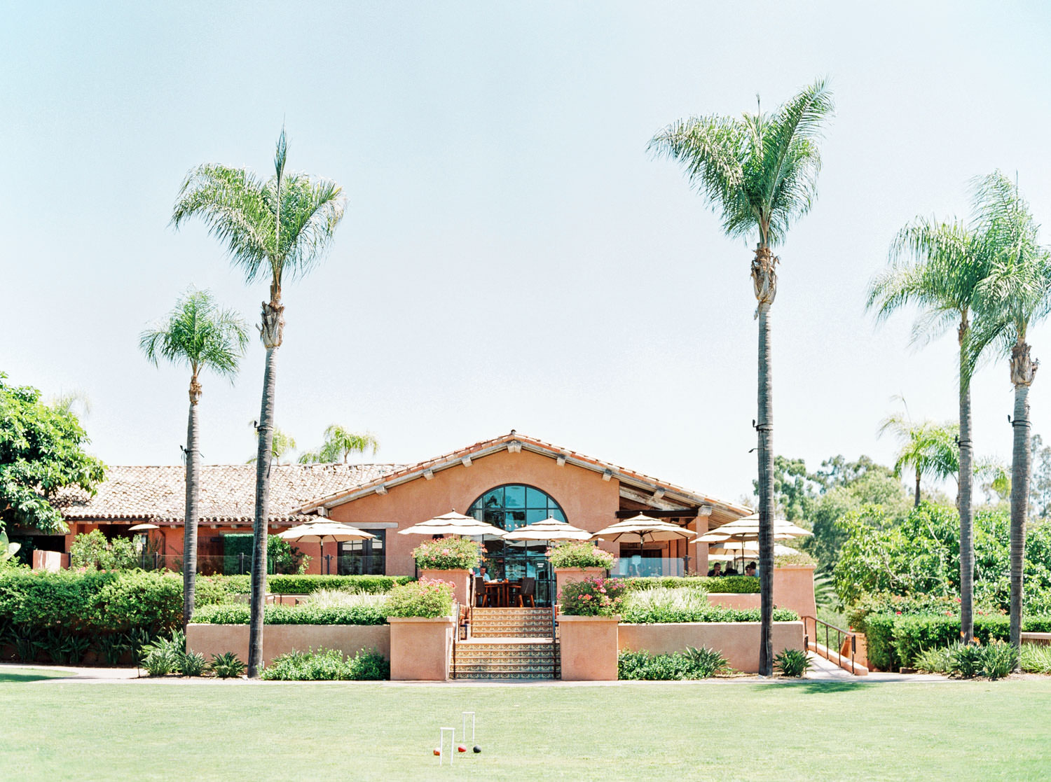 Weddings at Rancho Valencia on the Croquet Lawn, Cavin Elizabeth Photography - San Diego film photographer