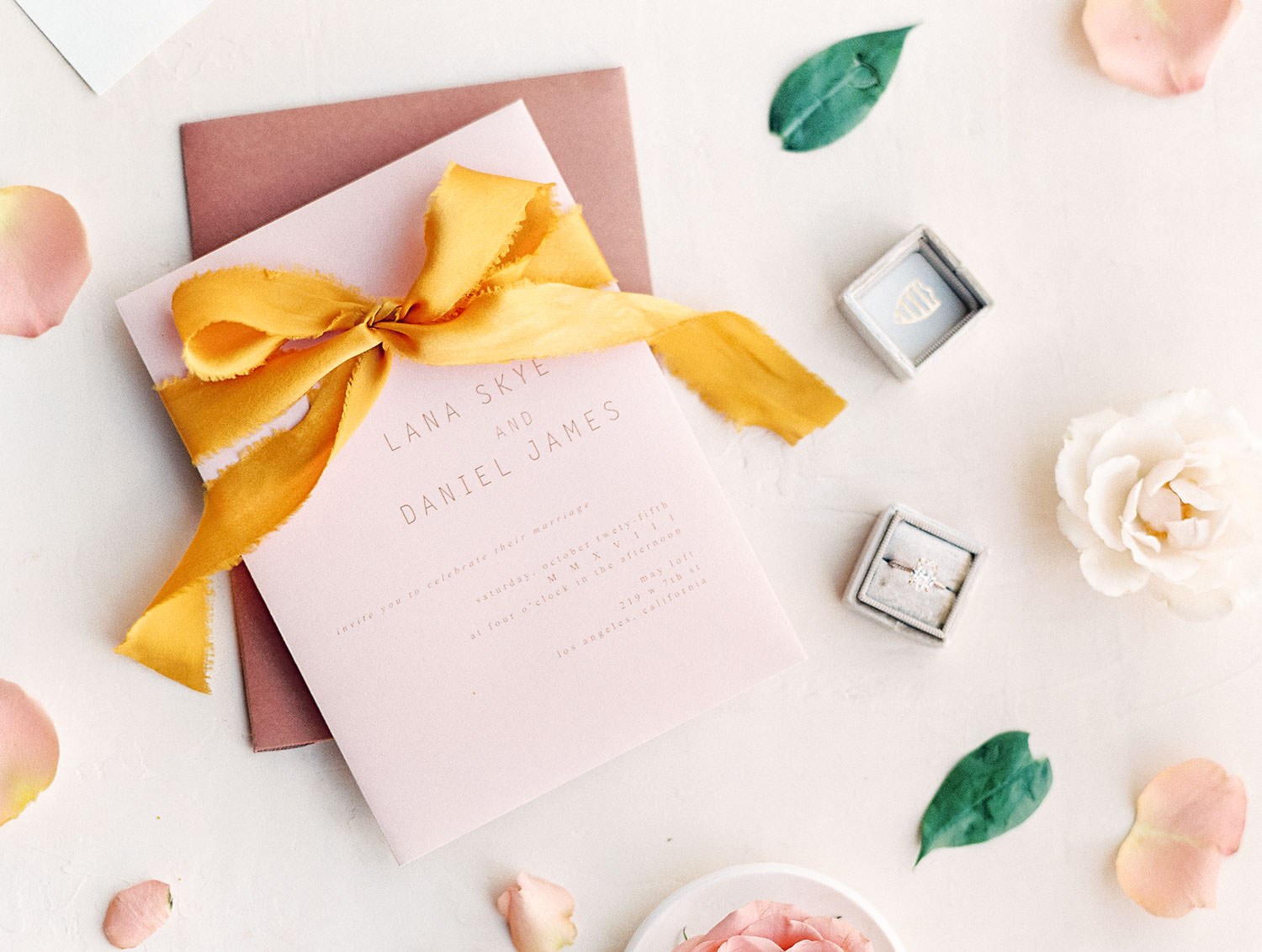 Epoch Design Terracotta, Ivory, and Mauve Wedding Invitations on film by Cavin Elizabeth Photography