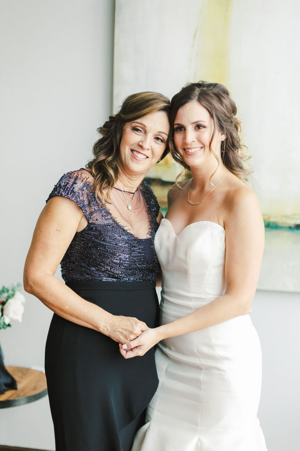 Bride with her mother before the wedding, photo by Cavin Elizabeth Photography
