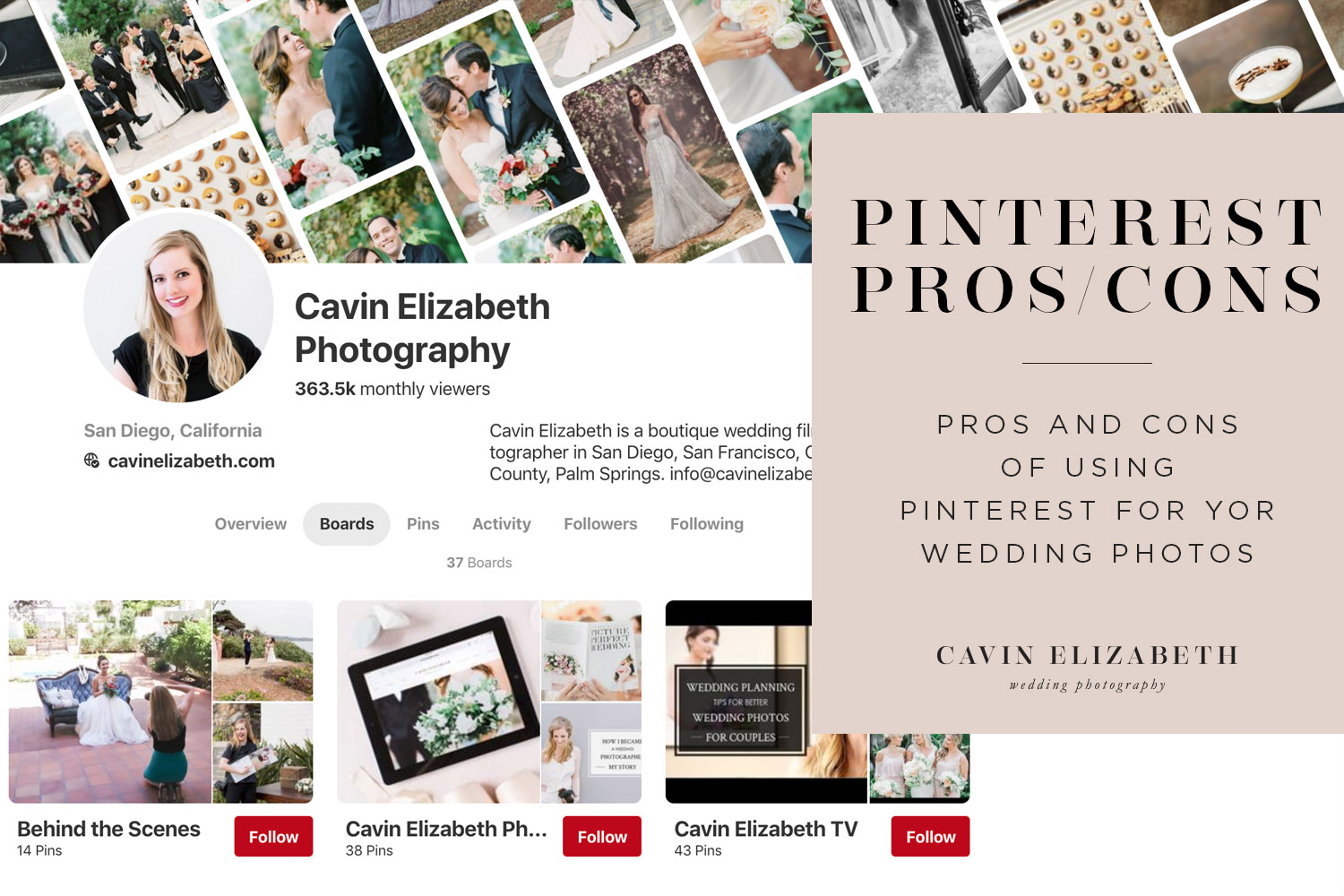 Using Pinterest for Your Wedding Photography Pros and Cons, the good and bad of looking at Pinterest for wedding photo ideas