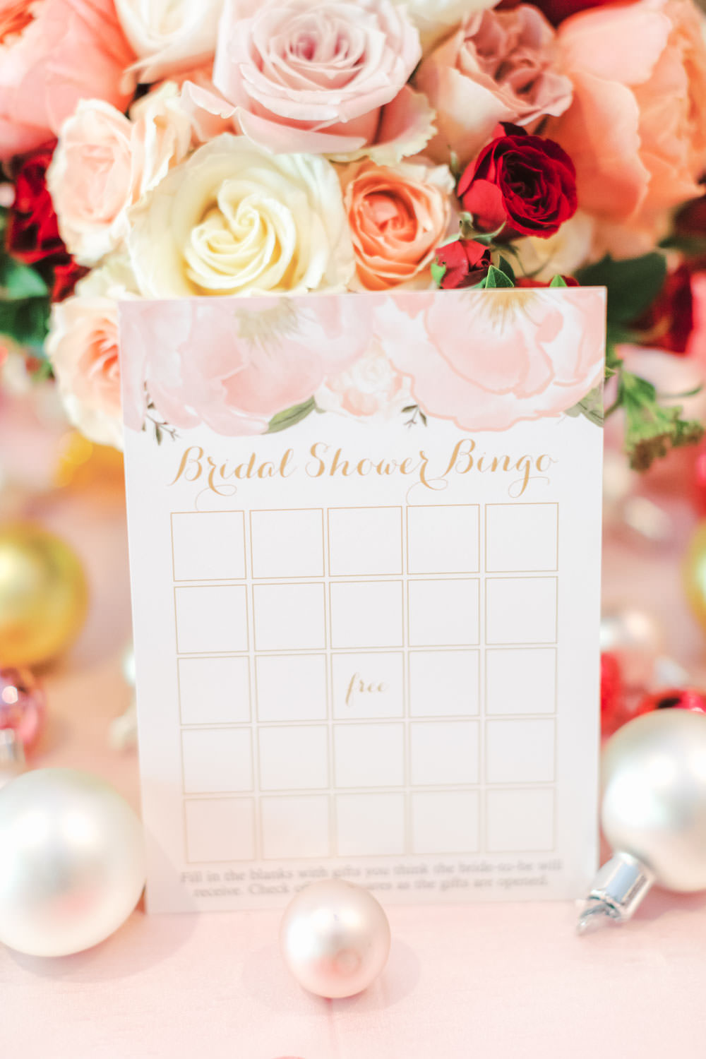 bridal shower gift bingo chic beverly hills hotel bridal shower table with pink linens and