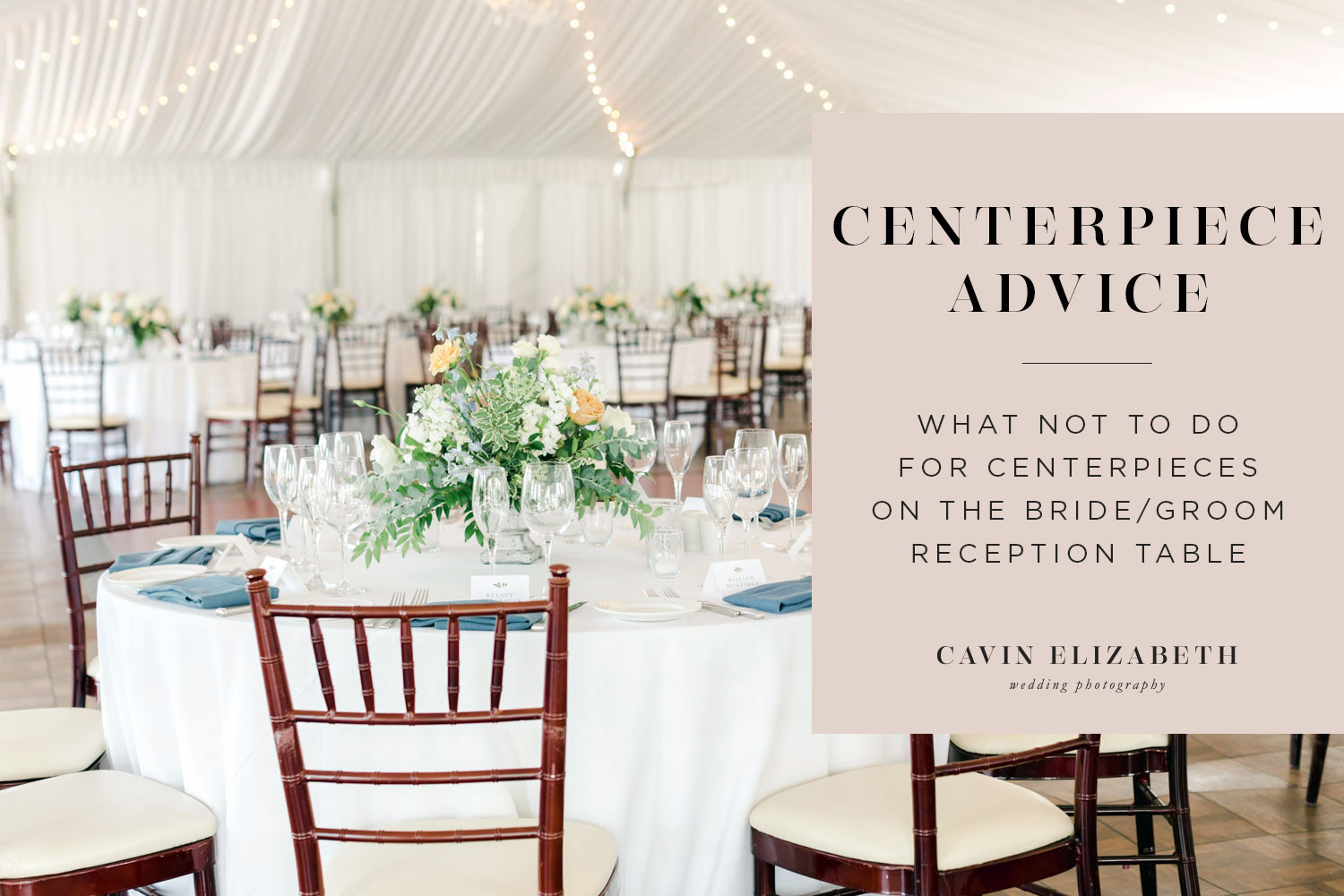Centerpieces on the Bride and Groom Table: What Not to Do