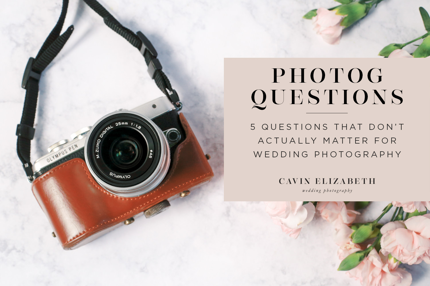 5 Wedding Photographer Questions that Aren't That Important