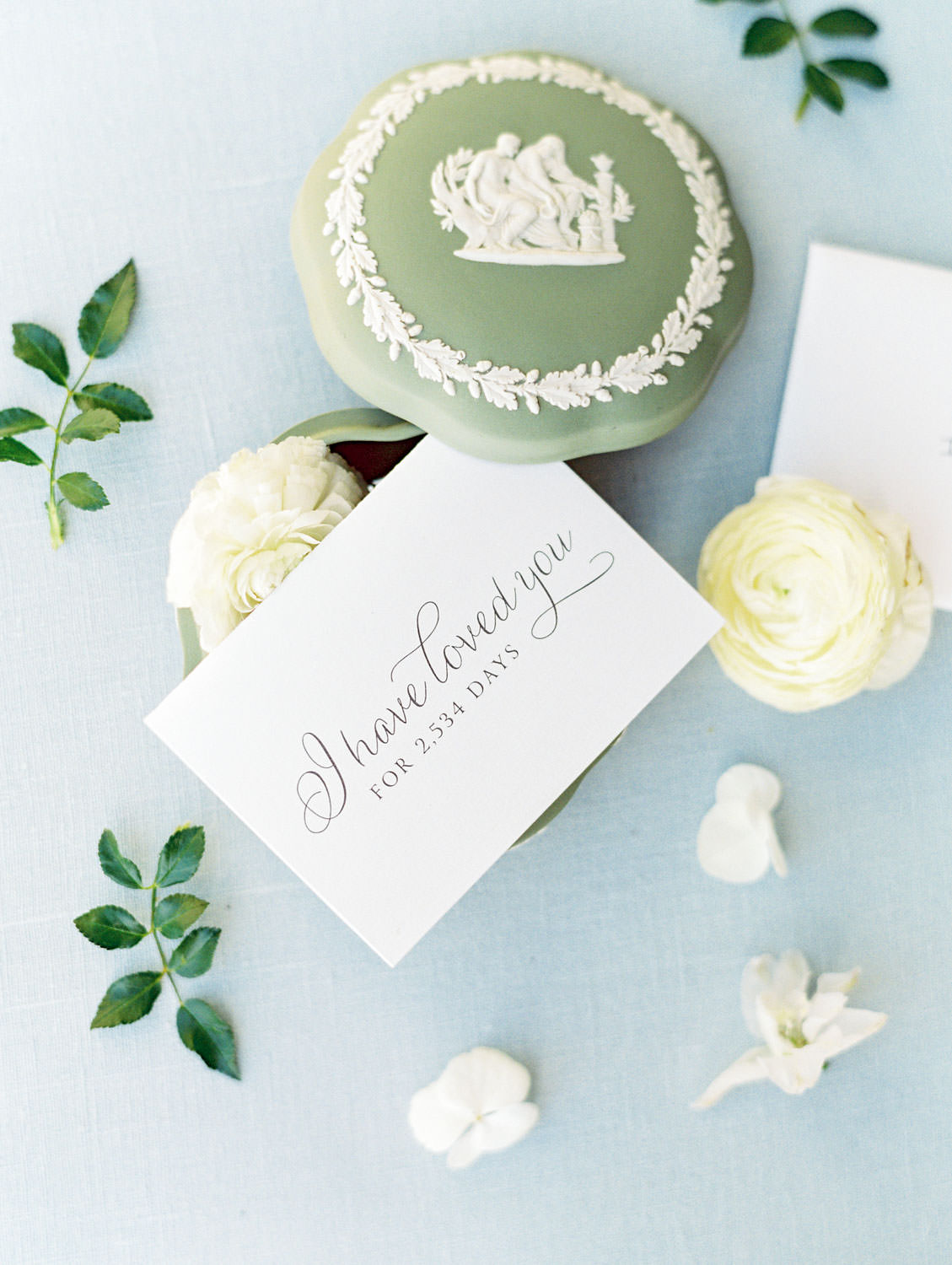 Letter written to the groom from the bride styled with flowers, Del Mar Country Club Wedding by Cavin Elizabeth Photography