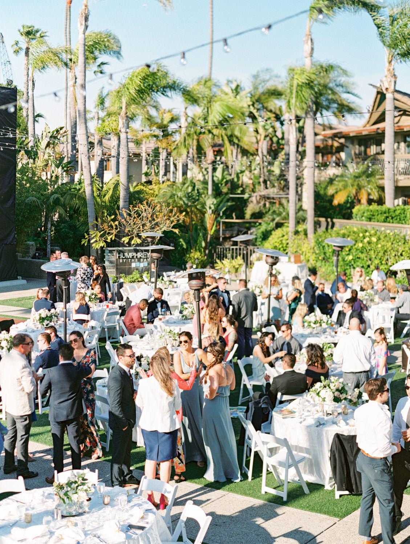 Outdoor wedding reception at Humphreys Half Moon Inn by Cavin Elizabeth Photography