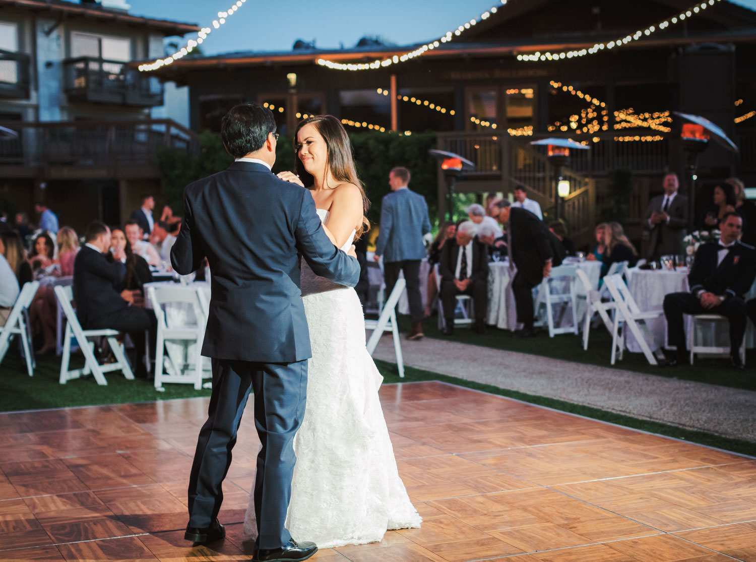 Father daughter dance wedding reception at Humphreys by Cavin Elizabeth Photography