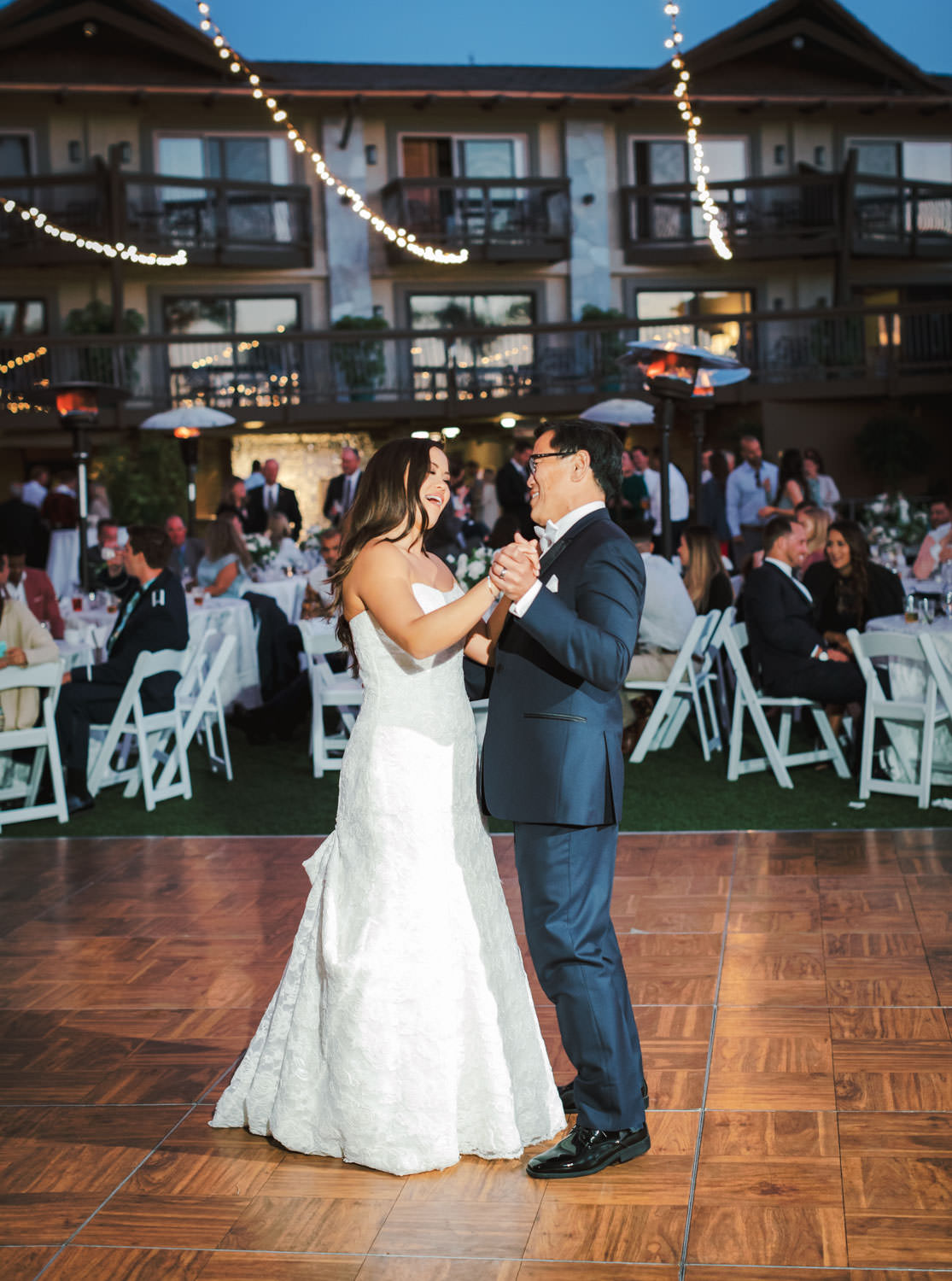 Father daughter dance wedding reception at Humphreys Half Moon Inn by Cavin Elizabeth Photography