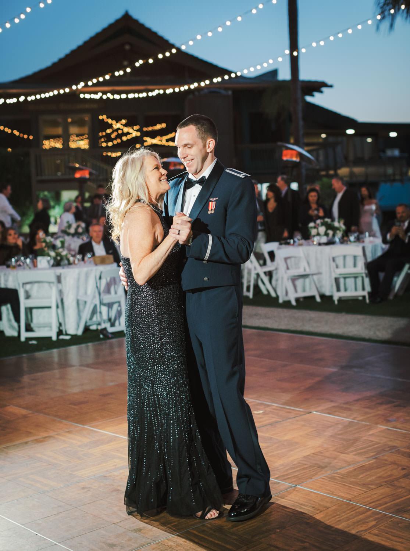 Mother son dance wedding reception at Humphreys Half Moon Inn by Cavin Elizabeth Photography