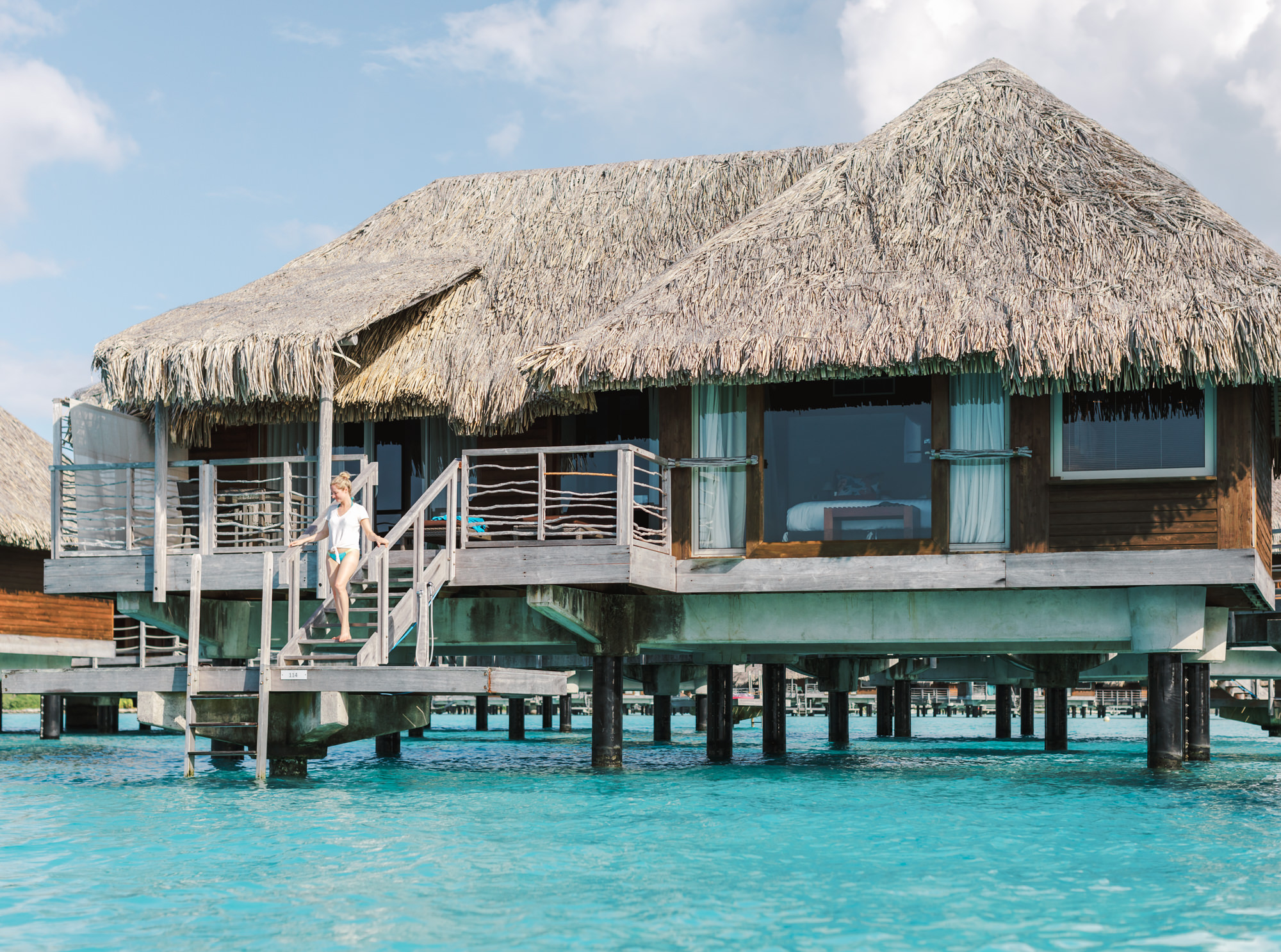 Our InterContinental Bora Bora Honeymoon diamond overwater bungalow