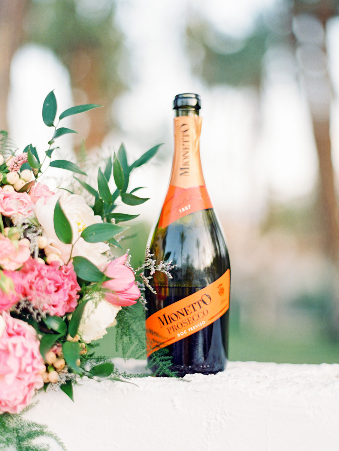 Mionetto Prosecco Doc Treviso. La Quinta Resort Engagement Photos on Film by Cavin Elizabeth Photography