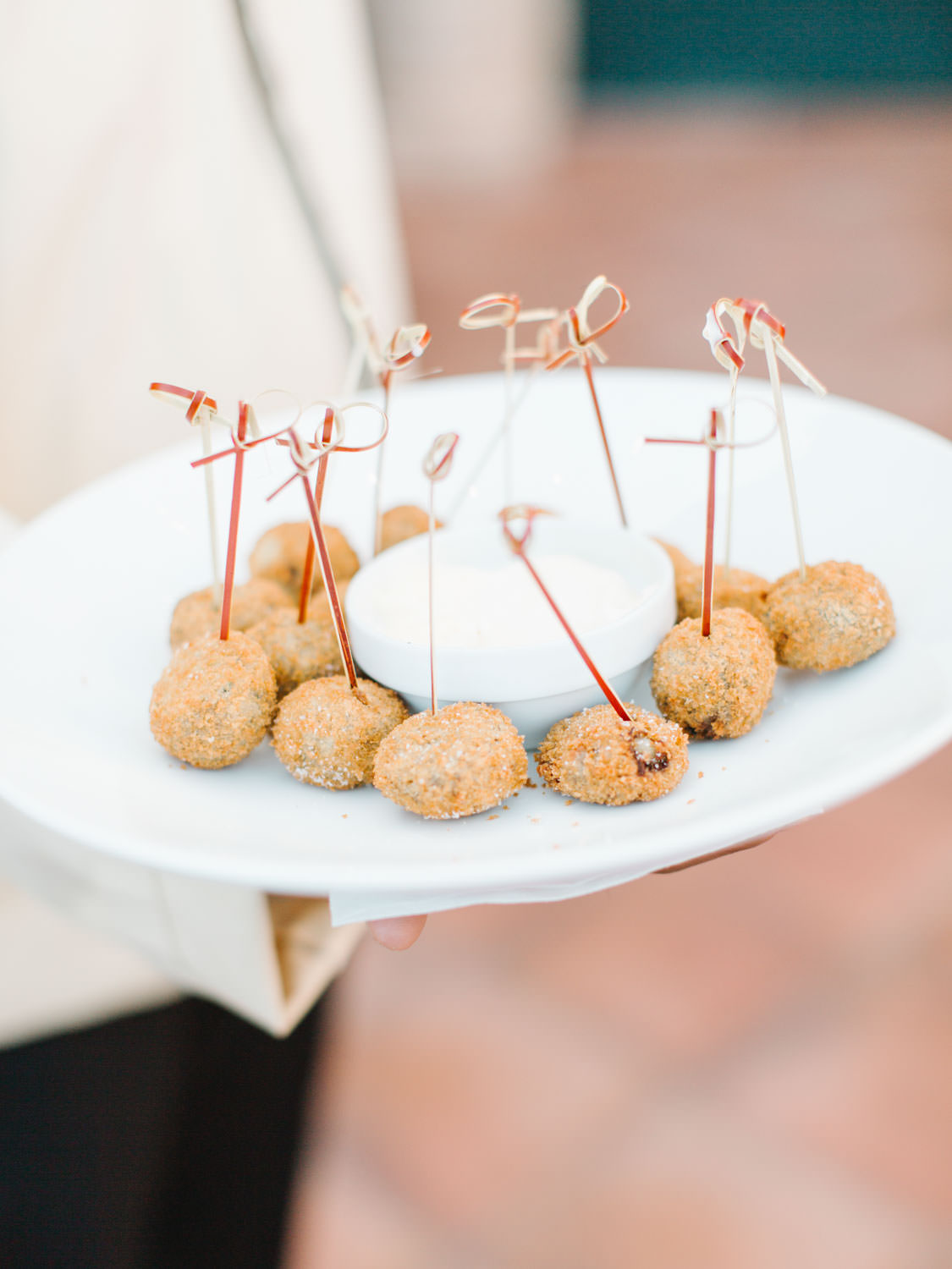 short rib croquettes with truffle aioli for wedding cocktail hour