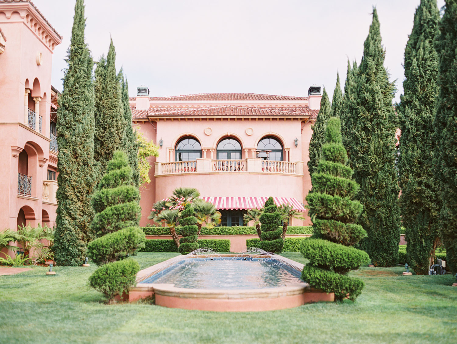 Fairmont Grand del Mar Aria lawn wedding published on Martha Stewart Weddings