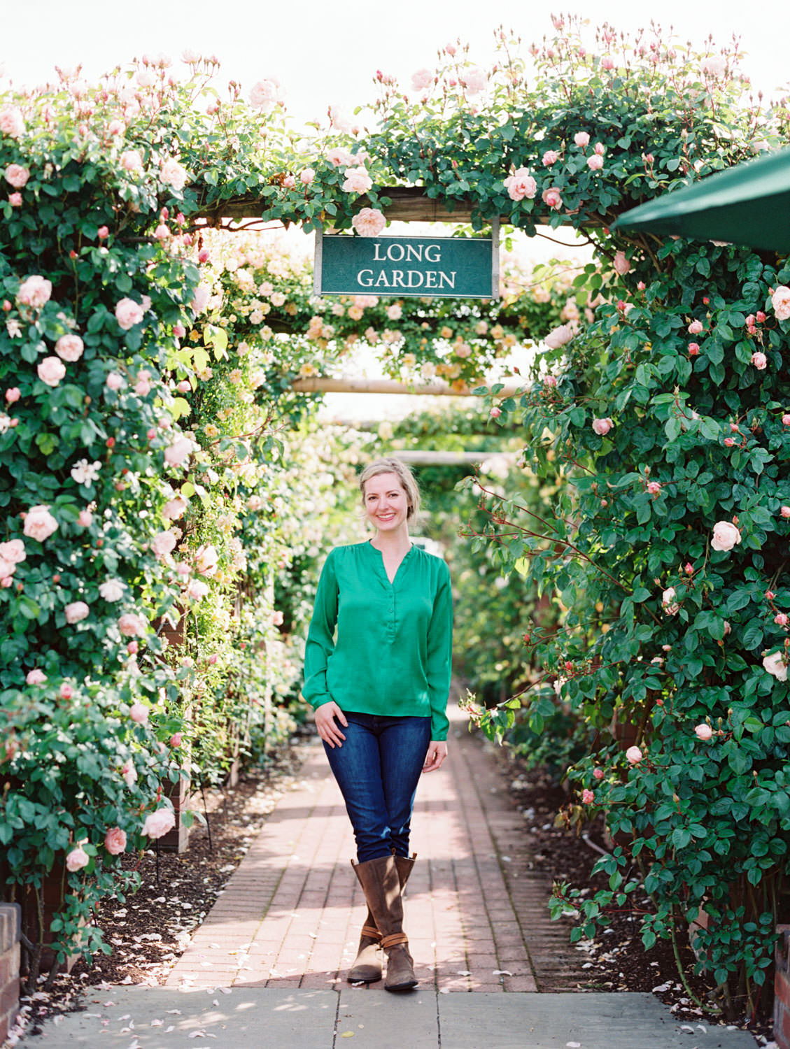Long garden at David Austin Roses in England. Film by Cavin Elizabeth on the Flutter Mag Retreat