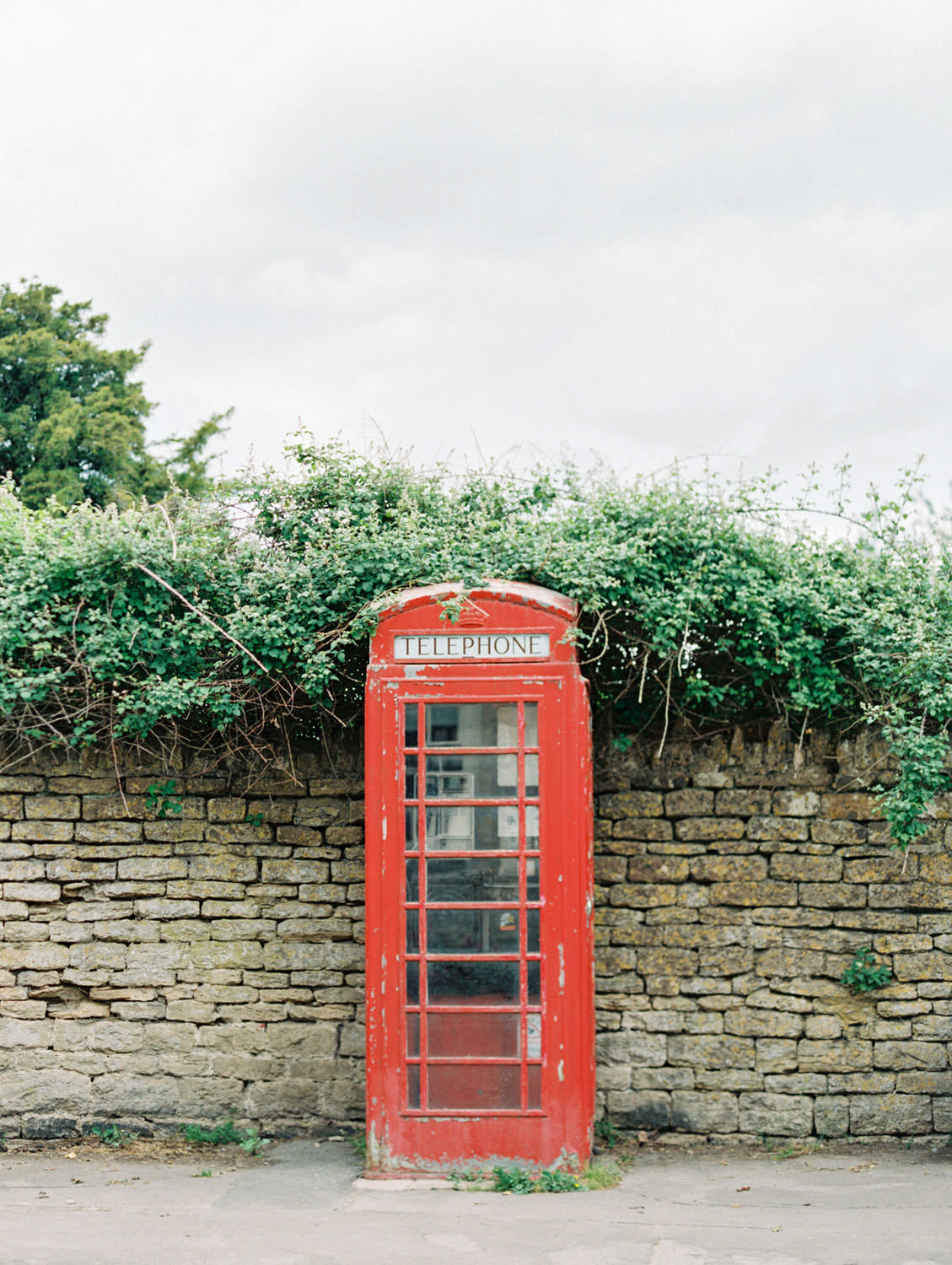 Lacock village red telephone booth in England, Cavin Elizabeth Photography