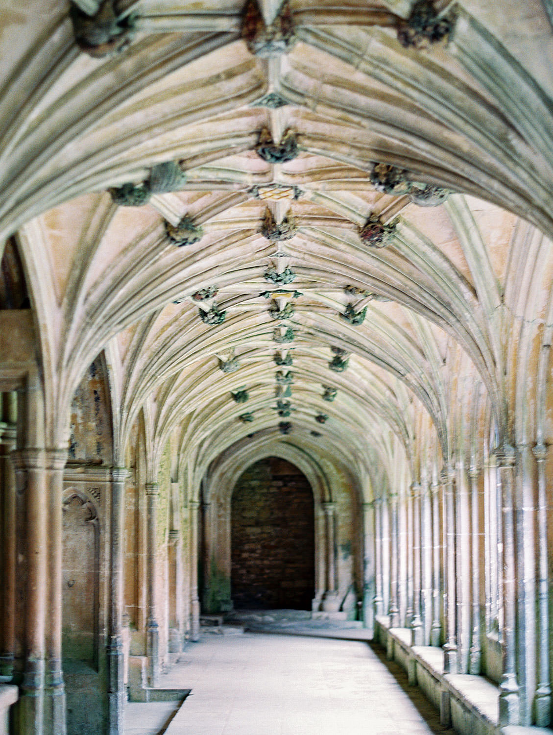 Lacock Abbey cloister where Harry Potter was filmed in England, Cavin Elizabeth Photography