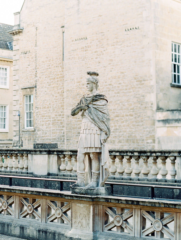 Roman statues at The Roman Baths in Bath England, Cavin Elizabeth Photography